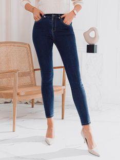 Spodnie damskie jeansowe 024PLR - granatowe