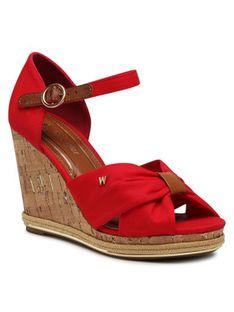 Wrangler Sandały Panama Cross WL11652A Czerwony