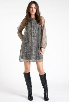 Krótka sukienka w ciekawy print