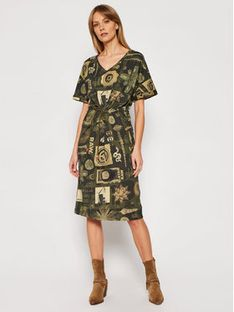 G-Star Raw Sukienka codzienna Adjustable D19292-C387-C366 Zielony Regular Fit