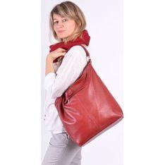 Shopper bag zielona Designs Fashion ze skóry