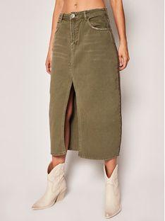 One Teaspoon Spódnica jeansowa Rock 23287 Zielony Regular Fit