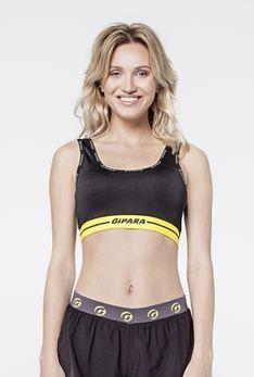 Biustonosz sportowy czarny / żółty
