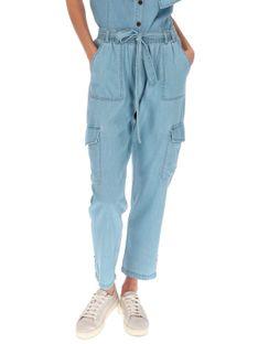 Materiałowe spodnie z podwijanymi nogawkami Red Button 2842.BELLE.DENIM