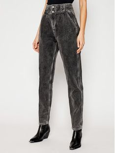 One Teaspoon Jeansy Tapered Fit Shustler 23925 Czarny Tapered Fit