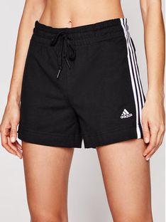 adidas Szorty sportowe Essentials Slim 3-Stripes GM5523 Czarny Slim Fit