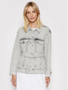Calvin Klein Jeans Kurtka jeansowa J20J215389 Szary Oversize