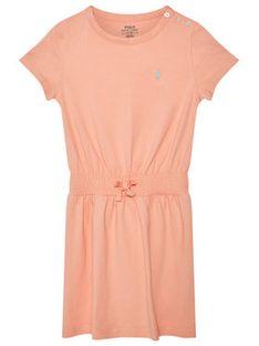 Polo Ralph Lauren Sukienka codzienna Play 311837203007 Pomarańczowy Regular Fit