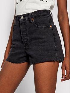 Levi's® Szorty jeansowe Ribcage 77879-0052 Czarny Slim Fit