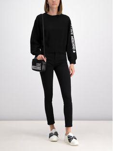 LOVE MOSCHINO Sweter WSG6210X0377 Czarny Oversize