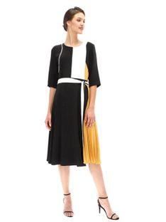Elegancka sukienka z plisowaną wstawką Ella Boo E-20AW-2023-40