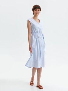 Bawełniana sukienka midi z paskiem w talii