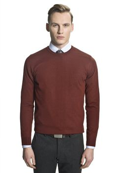 Casualowy gładki sweter Recman VETICA