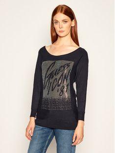 Guess Sweter Chiara W0YR24 Z2NQ0 Granatowy Regular Fit