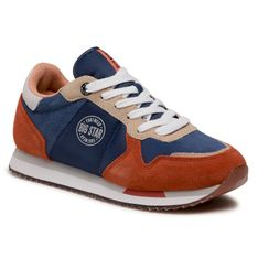 Sneakersy BIG STAR - HH274567  Blue/Orange