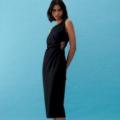 Reserved - Sukienka z wycięciem w talii - Czarny