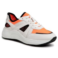 Sneakersy CAPRICE - 9-23505-34  White/Orange 136