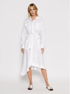 Iceberg Sukienka koszulowa 21EI2P0H0710650 Biały Regular Fit