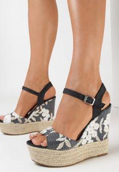 Czarne Sandały Phaleris