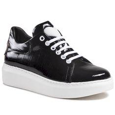 Sneakersy KARINO - 3817/090-P Czarny/Lakier Croc
