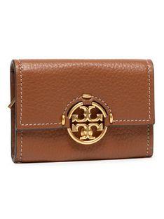 Tory Burch Mały Portfel Damski Miller Mini Wallet 79394 Brązowy