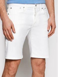Pepe Jeans Szorty jeansowe Cane PM800543 Biały Slim Fit