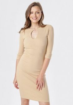 Jasnobeżowa Sukienka Klelira