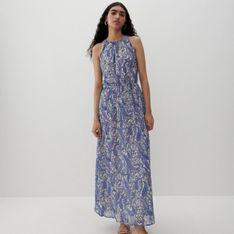 Reserved - Wzorzysta sukienka - Niebieski