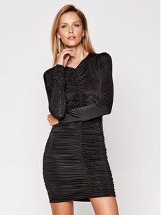Pinko Sukienka koktajlowa Angolare Abito Al 20-21 PBK2 1B14QH Y6J8 Czarny Slim Fit