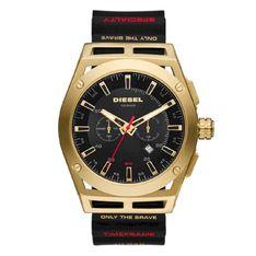 Zegarek DIESEL - Timeframe DZ4546 Black/Gold