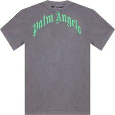 T-shirt męski szary Palm Angels bawełniany