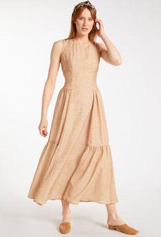 Sukienka maxi na grubych ramiączkach