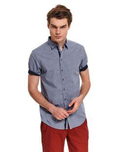 Koszula z tkaniny oksford o luźnym kroju