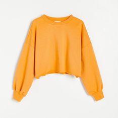 Reserved - Krótka bluza crop top - Pomarańczowy