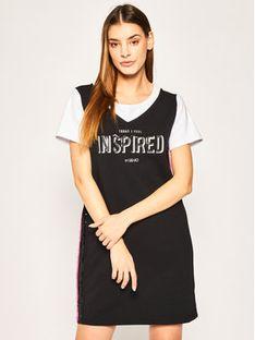Liu Jo Sport Sukienka codzienna TA0020 F0802 Czarny Regular Fit