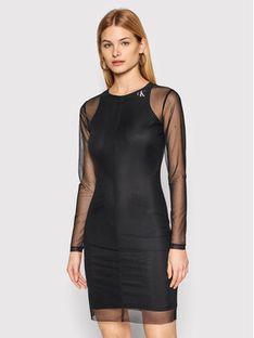 Calvin Klein Jeans Sukienka codzienna J20J215666 Czarny Slim Fit