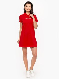 """Tommy Jeans """"Essential Polo Dress"""" Red"""