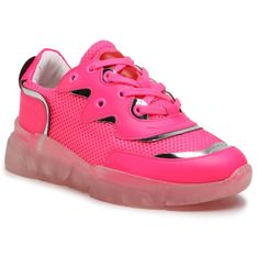 Sneakersy LOVE MOSCHINO - JA15153G1CIW160A Fluo Fuxia