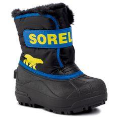 Śniegowce SOREL - Childrens Snow Commander NC1960 Black/Super Blue 011