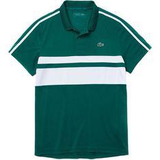 T-shirt męski Lacoste z krótkimi rękawami w paski