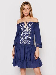 Iconique Sukienka letnia Celine IC21 062 Granatowy Relaxed Fit