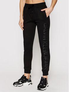 Calvin Klein Jeans Spodnie dresowe J20J215551 Czarny Regular Fit