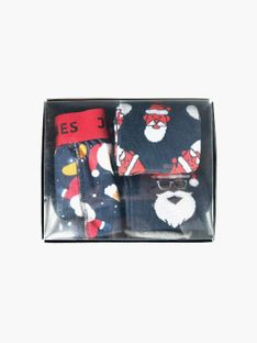 "Jack & Jones ""Jacgiftbox Trunks & Socks"" Navy Blazer Santa On"