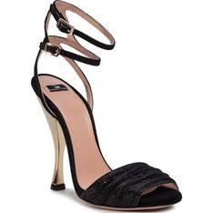 Sandały damskie Elisabetta Franchi na szpilce bez wzorów eleganckie