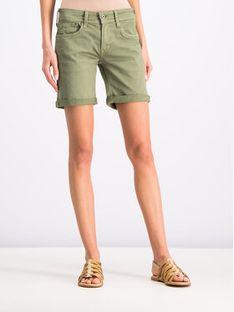 Pepe Jeans Szorty jeansowe PL800802YC8 Zielony Regular Fit