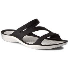 Klapki CROCS - Swiftwater Sandal W 203998 Black/White