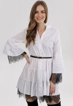 Biała Sukienka Lightglow