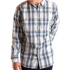 Koszula męska Wrangler z kołnierzykiem button down z długim rękawem biała casualowa