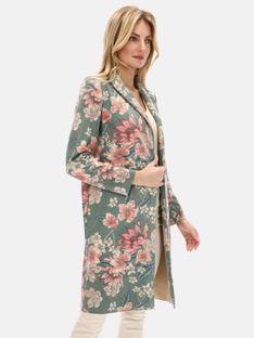 Wiosenny płaszcz w kwiaty Rino & Pelle MIROLA 60740