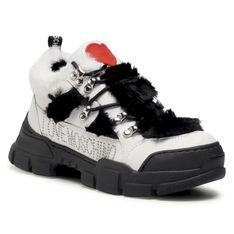 Sneakersy LOVE MOSCHINO - JA15434G0BJAF10A Ne/Bia
